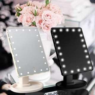 LED 22 LIGHTED MAKEUP MIRROR BLACK WHITE