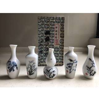 Porcelain Miniature Vase From China (Set A)