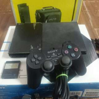 Sony PS2 with box and bag