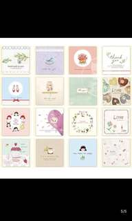 [9 cards for $4] Birthday /festival/ anniversary/ mother's day cards