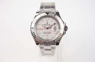 Rolex Yatch Master Silver Dial Red Hand (1:1)