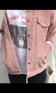 Pink vintage oversized corduroy jacket