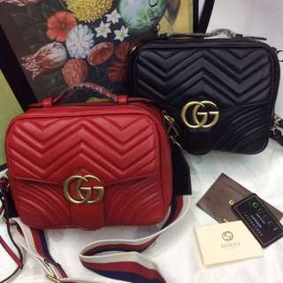 Gucci marmont bag red & black