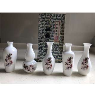 Porcelain Miniature Vase From China (Set B)