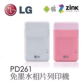 現貨 原廠行貨 LG POCKET PhotoPrinter PD261 相片打印機 ( 白色 / 粉紅色 )