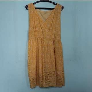 Yellow Beach Dress Lace