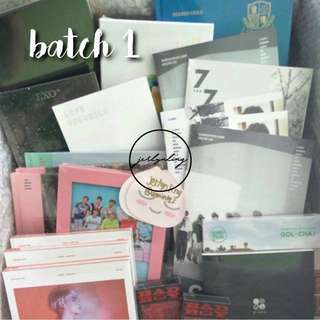 [INSTOCK] KPOP ALBUMS BATCH 1 - SOME POSTERS AVAIL (BTS, JONGHYUN, SVT, RV, GOLDEN CHILD, W1)