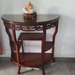 Semi round antique table