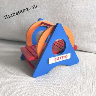 Rainbow Wooden Swing See-saw Toy Hamster