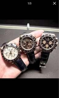 Rolex 勞力士 手表 迪通拿 116515LN 玫瑰金象牙白盤皮帶  熱賣