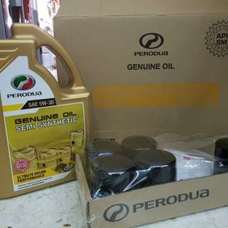 Engine Oil semi synthetic perodua 4 liter. free oil filter