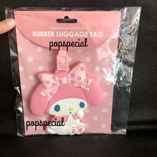 LASt SET My Melody Rubber Luggage Name Tag