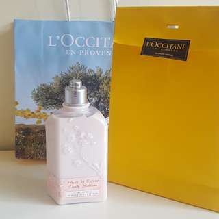 BN! L'Occitane Cherry Blossom Shimmering Body Lotion
