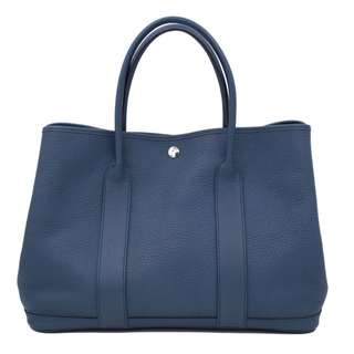 (second hand)Hermes GARDEN PARTY NEGONDA 36 TOTE BAG PHW, BLUE TEMPETE 二手 手袋 藍色