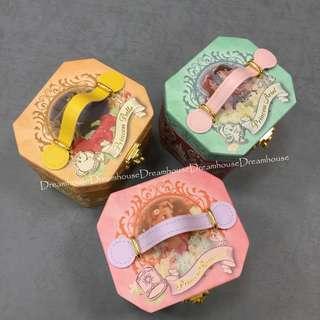 東京迪士尼 小美人魚 樂佩 美女與野獸 小物 鏡子 收納盒 音樂盒 置物盒