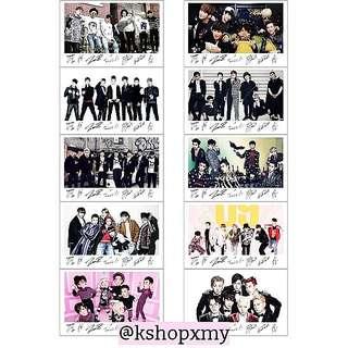 Block B Group Transparent Photocards