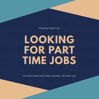 Looking for part time job!