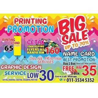 PRINTING PROMOTION - BUSINESS CARD / BANNER / FLYER / DESIGN / ETC.