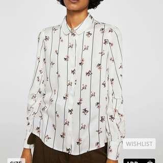 Mango flowy printed blouse