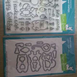 BN Lawn Fawn Party Animals Stamps and Die set