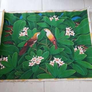 Lukisan bali -burung jalak bali 80 cm × 60 cm