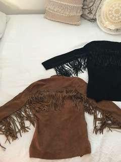 Tan & Black Tassel Coats