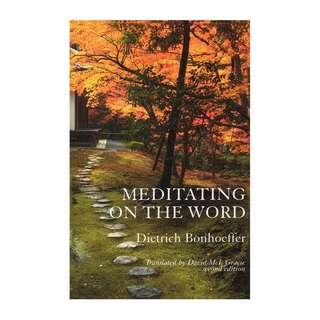 [eBook] Meditating on the Word - Dietrich Bonhoeffer
