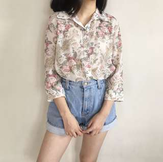 Floral Pinkish Shirt