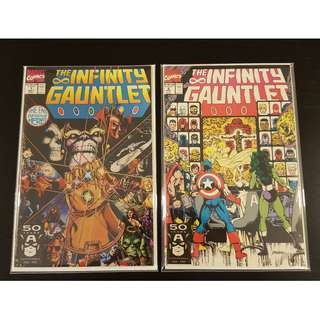Infinity Gauntlet #1-6 (1991) Complete Set of 6 Books (AWESOMELY ICONIC!!)