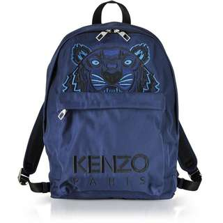KENZO Canvas Tiger Backpack in Navy Blue