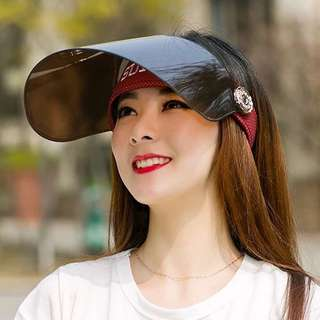 Ladies Visor/Sunscreen cover ( Maroon Red )