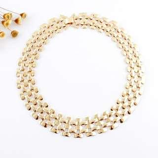 Jacqueline Gold Chain Necklace