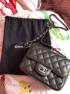 Chanel mini 17cm 牛皮
