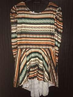 #2 Tribal Pattern Blouse Dress Top