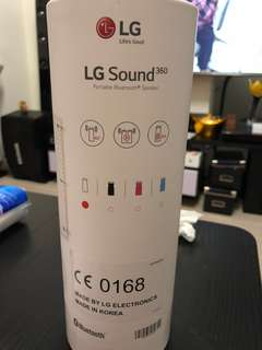 LG sound 360 portable Bluetooth speaker