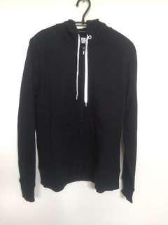 hoodie zipper hitam