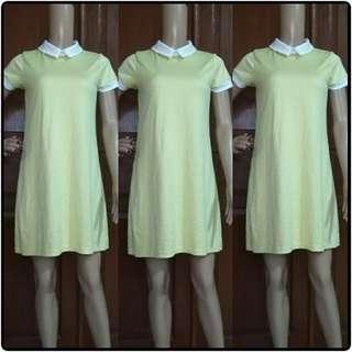 Elle dress kuning muda
