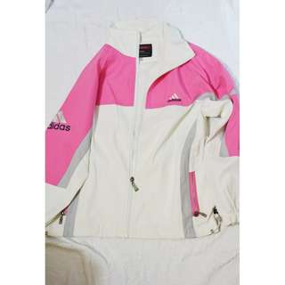 NAME YOUR PRICE | ✔ DETAILS!  Adidas Pink and White Winbreaker Jacket