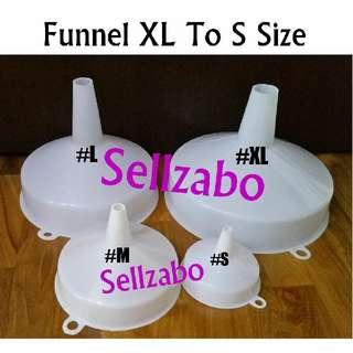 4 Sizes Funnels White Plastic Sellzabo Big Small Refilling Transferring Transfer Refill Liquids Tools