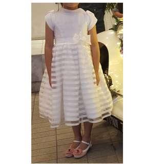 Girls Lace Chiffon Long Dress