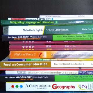 Textbooks - Express / Normal -Secondary 1 2 3 4, O N Levels (geography history FCE maths social