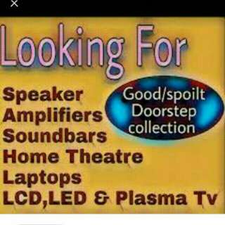 Buy all spoilt tv and electronic amplifier  at your door step
