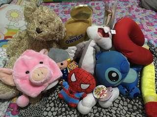 Various stuff toys