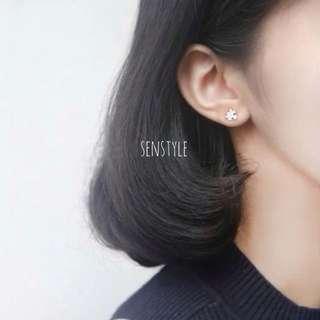 🚚 純銀-拼圖貼耳耳環