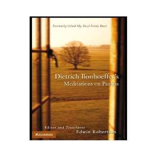 [eBook] Dietrich Bonhoeffer's Meditations on Psalms - Edwin Robertson