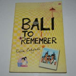Novel Bali to Remember - Erlin Cahyadi Teenlit