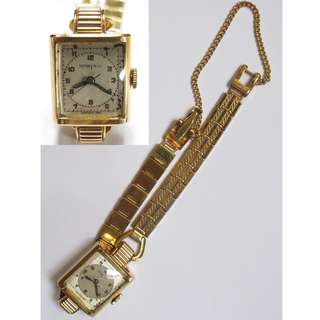 Tiffany & Co. 14K Solid Yellow Fancy Lug Manual Wind Ladies Wristwatch ~ 50/60年代 Tiffany & Co. 女裝14K金錶