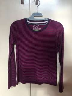 Giordano Striped Long Sleeves