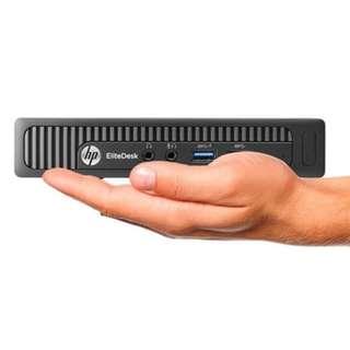 """WTS : HP HP EliteDesk 705-G1 Mini Desktop, AMD A8-7600B 2.2GHz Quad-Core, 8GB DDR3, 256GB Solid State Drive, 802.11n, Win7Pro 64-Bit, 23"""" LED Monitor"""
