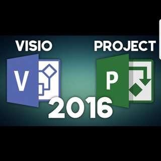 Microsoft Visio or Microsoft project